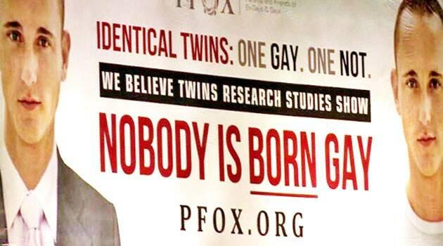 """""""Nadie nace gay"""", reza el categórico mensaje de una publicidad-carretera en Estados Unidos"""